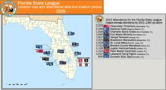 baseball florida map minor league baseball the florida state league class a