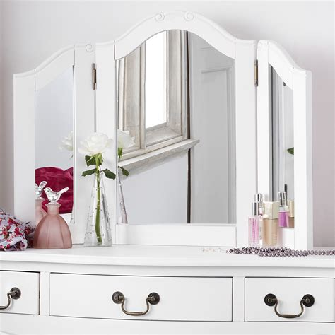 Shabby Chic White Dressing Table Mirror   Bedroom