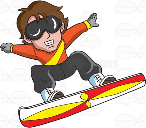 Home Design Do S And Don Ts by A Snowboarder Jumping In Exhibition Vector Clip Art Cartoon