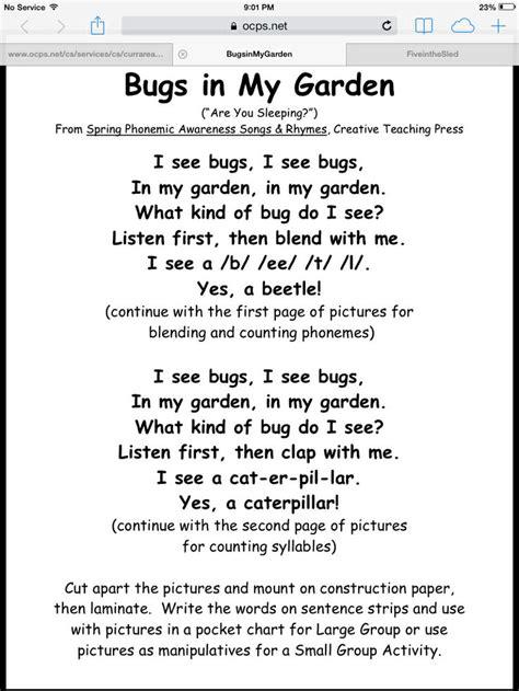 Songs Garden by Bugs In The Garden Song Preschool Theme Songs
