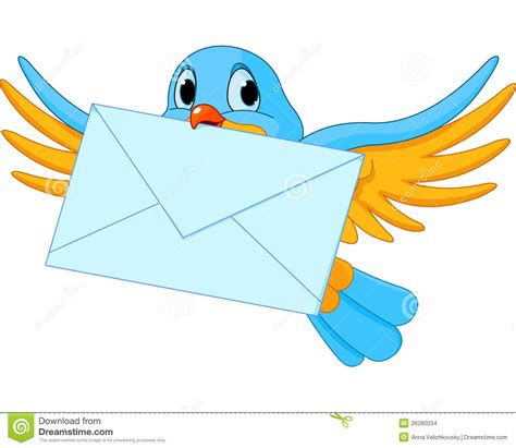 msn lettere bird with letter stock vector illustration of vector