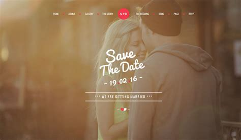 70 best wedding website templates free premium