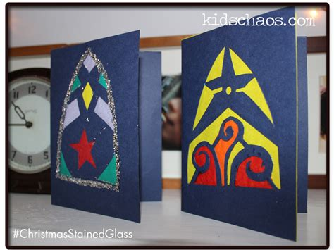 christmas card craft ks2 cards stained glass kidschaos