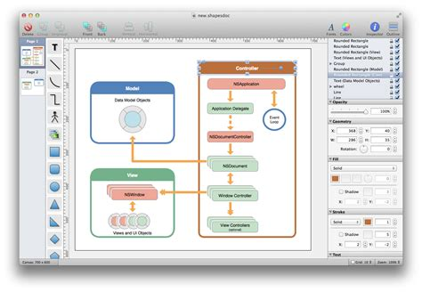 mac os diagram tool shapes a simple yet powerful diagram and flowchart app