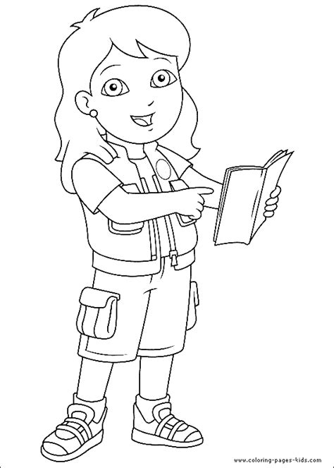 Go Coloring Page free coloring pages of diego