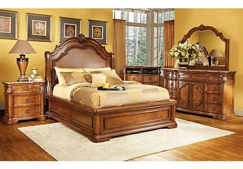 rooms to go sleigh bed rosabelle king dark pecan 5pc panel bedroom new master 19666 | cf960dad3f7ddc59546488e834b3342a queen bedroom sets master bedroom