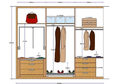 Wardrobe Design Dimensions by Quick3dplan Quick3dplan Closet Module Features