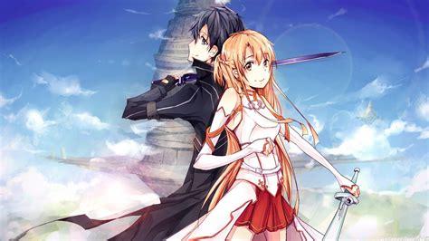 hd asuna and kirito sword art online wallpaper download