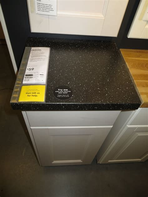 ikea pragel black countertop kitchens