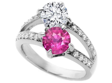 pink sapphire and gold engagement rings