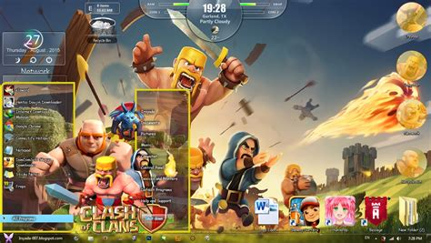 themes for windows 7 clash of clans theme win 7 clash of clans by irsyada007 irsyada007