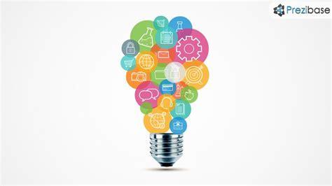 Creative Light Bulb From Circles Innovative Pitch Idea Prezi Presentation Template Prezi Prezi Pitch Templates