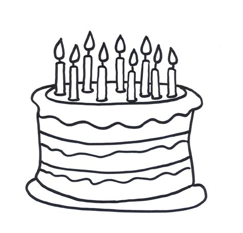 cake coloring pages cakes without color coloring pages