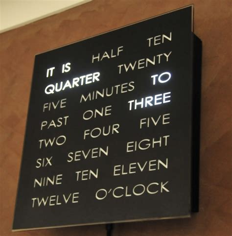 layout word clock doug s word clock