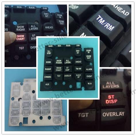 Keyboard Elastis Fleksibel Elastic Keypad customize elastomer rubber silicone laser etched keypad