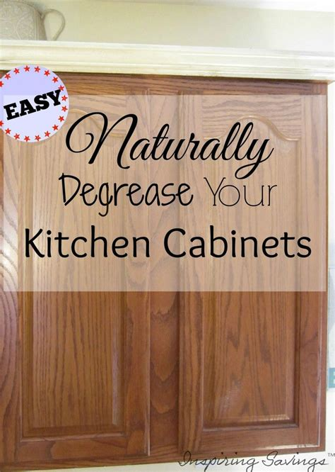how to clean kitchen wood cabinets how degrease your kitchen cabinets all naturally