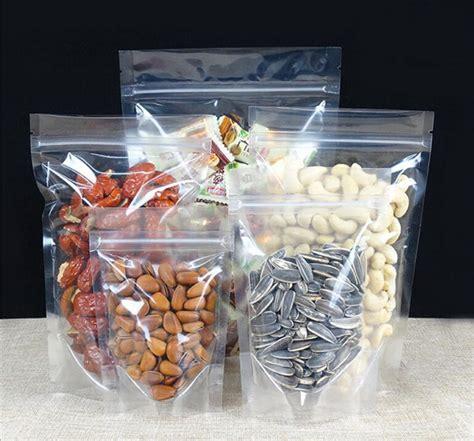 Plastik Seal Plastik Zipper 20x30 2018 clear plastic gift bag stand up clear zip lock snack