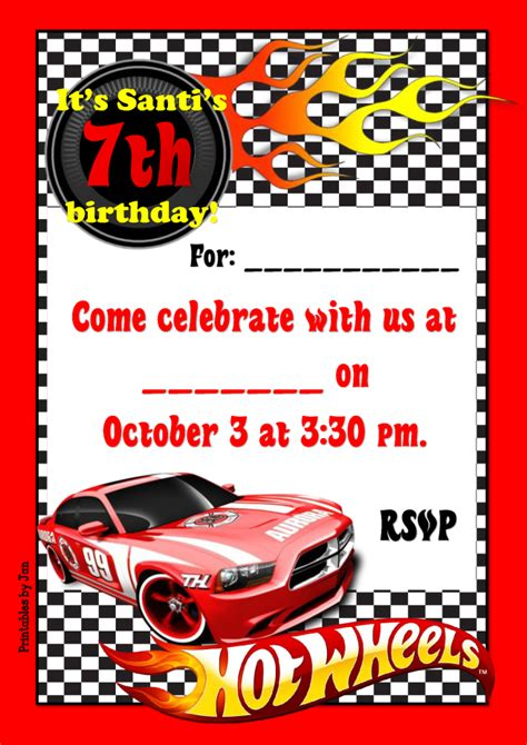 wheels card template template wheels photo birthday invitations with on