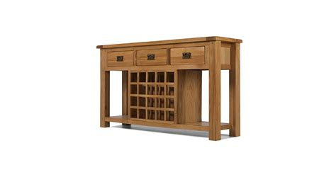 Wine Rack Console by Rustic Oak Wine Rack Console Table Lifestyle Furniture Uk