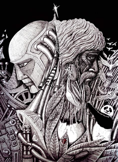 2 Pen Drawing By Bharoro by Progress Ink Pen Surreal Drawing By Vitogoni On Deviantart