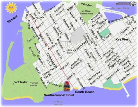 printable map key west key west map free printable maps