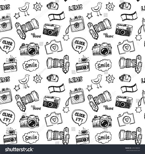 sign in for doodle vector illustration set photography stock