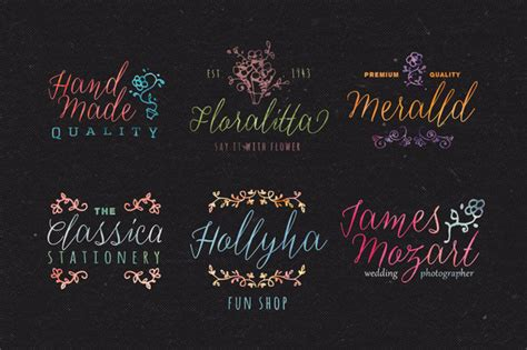 Set Delisa Flower best custom fonts and graphics thefancydeal