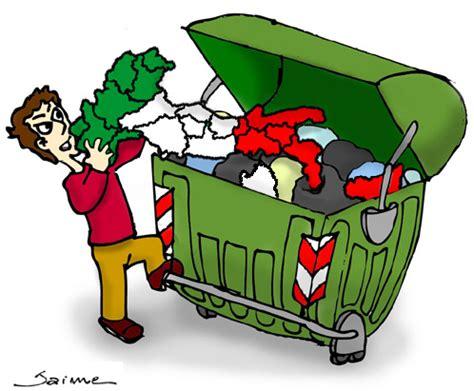 clipart rifiuti in piazza contro decreto vuole lombardia discarica d