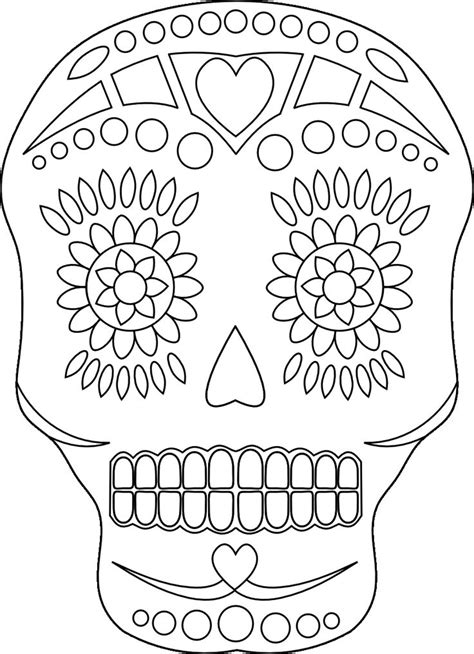 day of the dead art coloring pages day of the dead skulls free coloring pages on art