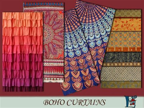 Bohemian Style Curtains The Sims Resource Boho Style Curtains By Evi Sims 4 Downloads
