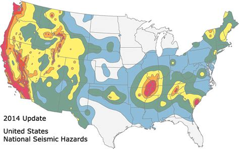 seismic risk map of the united states new earthquake hazards maps expand seismic risks into