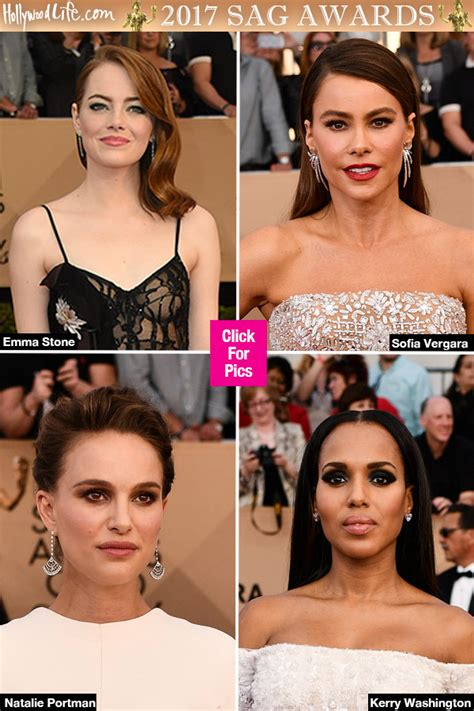 hair and makeup guild awards photos sag awards hair makeup see our fave looks