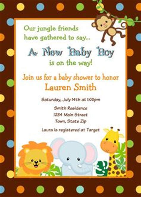 Zoo Invitation Letter Printable Jungle Baby Shower Invitation Free Thank You