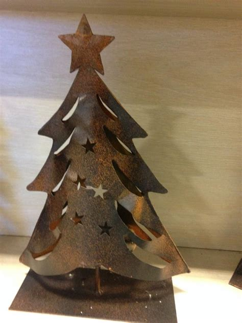 collectable 1970s metal christmas tree with candle holder on top rocky ridge outlet gift ideas