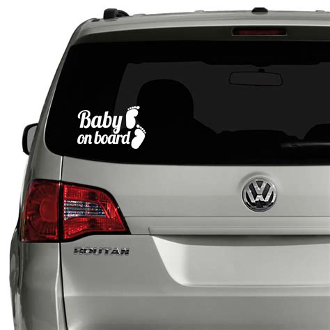 Aufkleber Baby Auto by Sticker Auto Baby On Board Et Pieds Stickers Auto