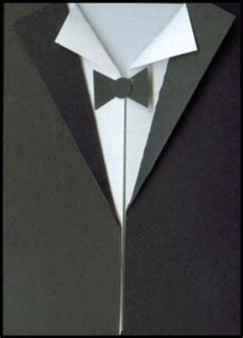 Tuxedo Template Card by Tuxedo Card With Template Bjl Cards Shapes