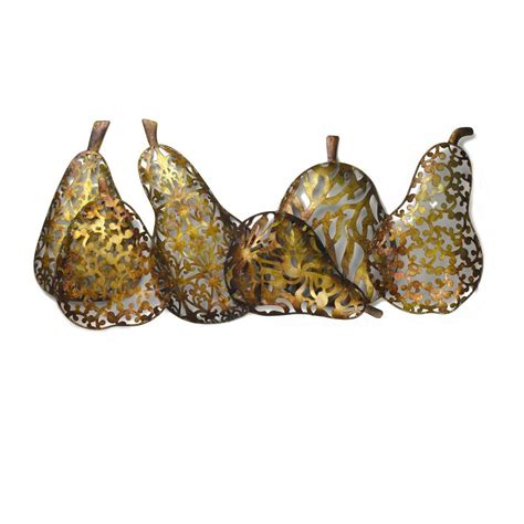 New 25 Quot Gold Metal New Lifetime Elements 33 Quot X 15 25 Quot Gold Metal Pears