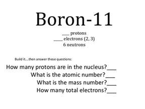 How Many Protons Are In Beryllium Students As Electrons Bohr Models Reduced