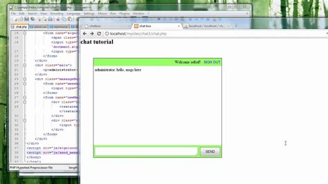 ajax jquery tutorial youtube chat shoutbox tutorial using php jquery and ajax part