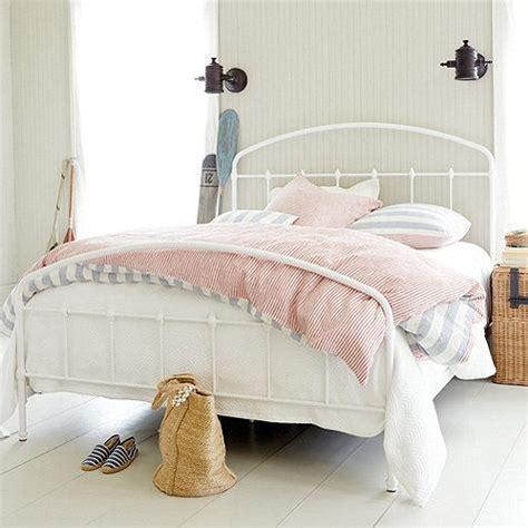 white metal beds lorraine white round frame metal bed