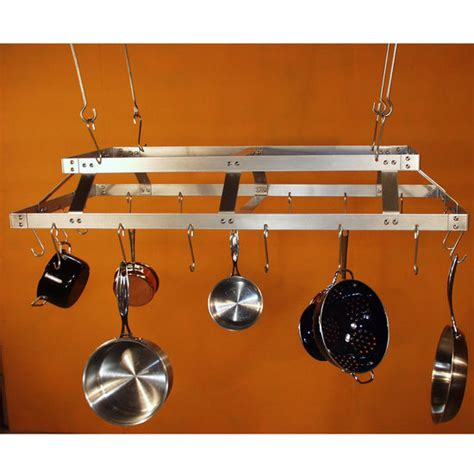 Commercial Pot Rack rectangular pot rack stainless steel pot rack for commercial use by hsm kitchensource