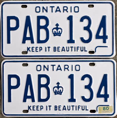 License Plate Lookup Ontario Ontplates Ontario Yom License Plates