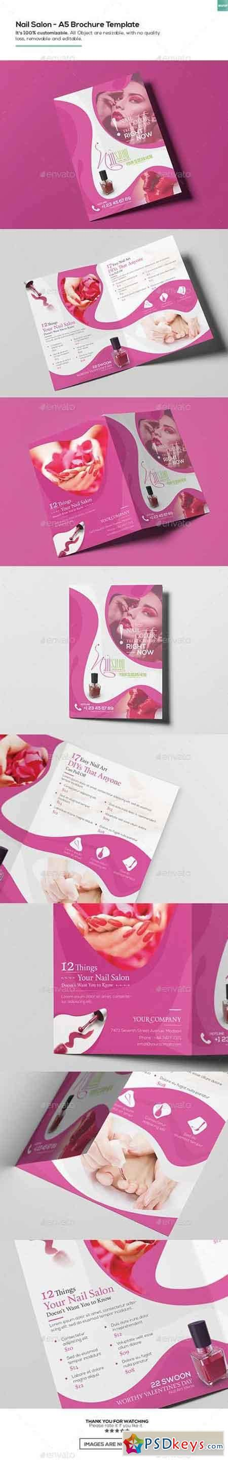 Nail 187 Free Download Photoshop Vector Stock Image Via Torrent Zippyshare From Psdkeys Com Nail Salon Brochure Template