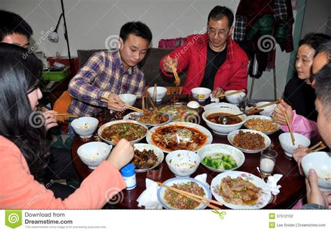 new year banquet pengzhou china family dinner at new year