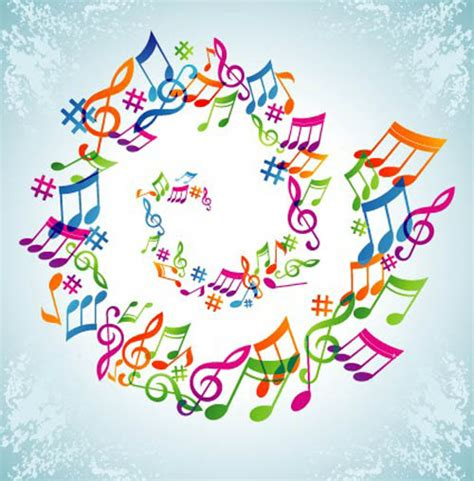 free design music elements of sheet music and music design vector 05