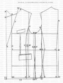 pattern drafting in tailoring how to draft double breasted jacket 1 pattern drafting