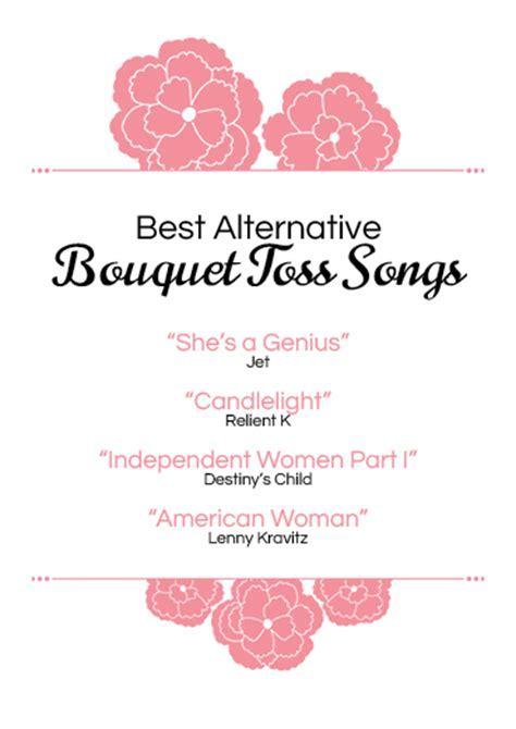 Best alternative bouquet toss songs   Ann's Bridal Bargains