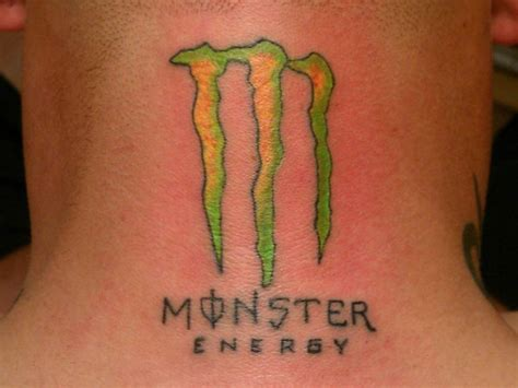 monster energy tattoo designs neck tattoos and designs page 22