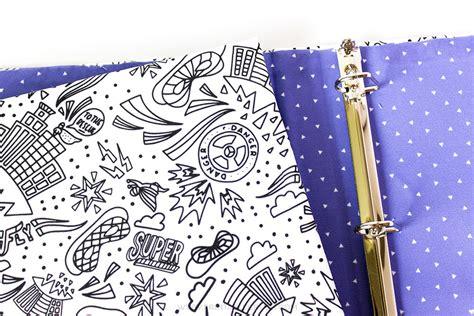 coloring book fabric coloring book fabric binder tutorial printable