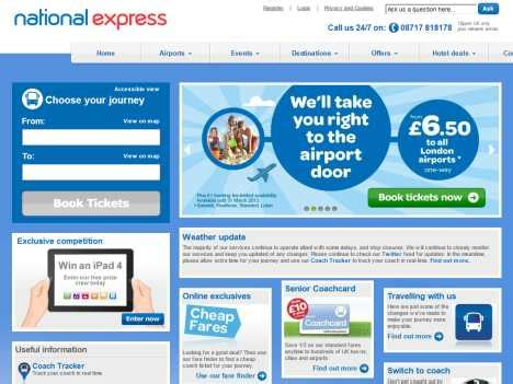 express official site www gobycoach national express official website